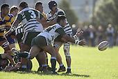 Manurewa halfback M. Niha clears the ball from a ruck. Counties Manukau Premier Club Rugby, Patumahoe vs Manurewa played at Patumahoe on Saturday 6th May 2006. Patumahoe won 20 - 5.