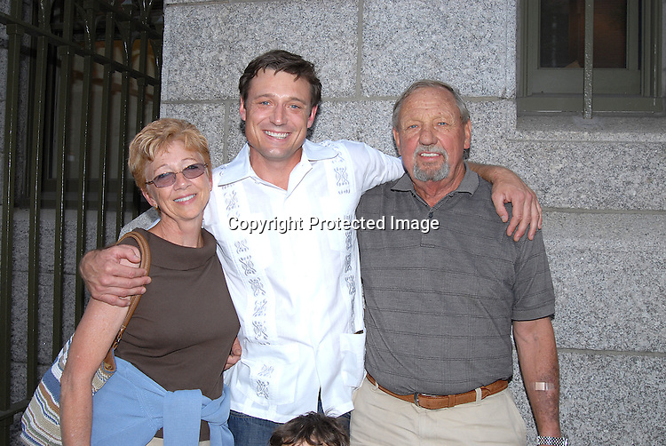 David Chisum with mom Linda and Dad Ray ..outside The One Life to Live Studio after celebrating the 10, 000th taping on July 3, 2007. Some of the ex stars were there taping scenes. ....Robin Platzer, Twin Images....212-935-0770