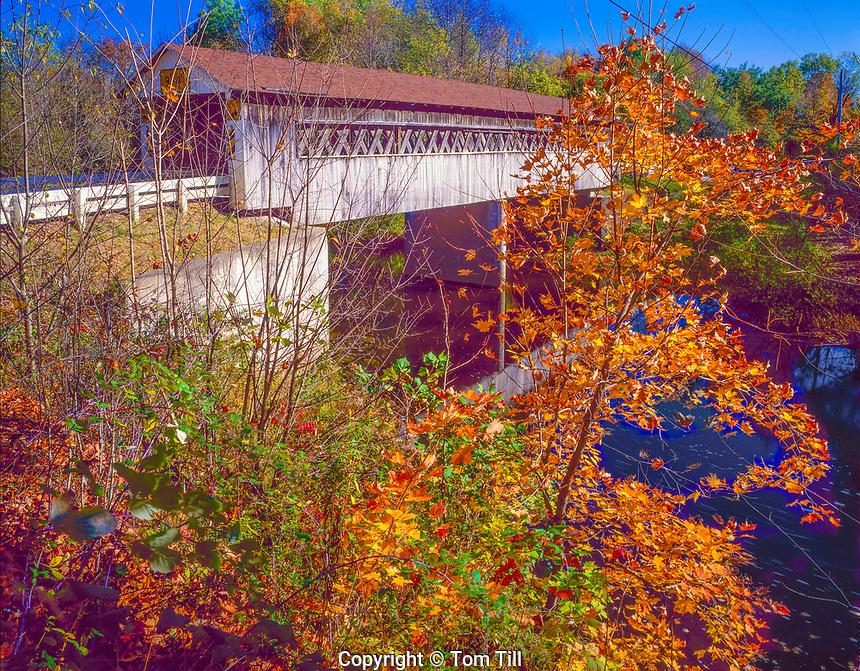 Covered Bridge,, Ashtabula County, Ohio, Ashtabula River