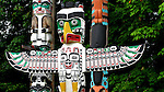 Eagle Totem from the totem pole park in Stanley Park  Vancouver, BC, Canada