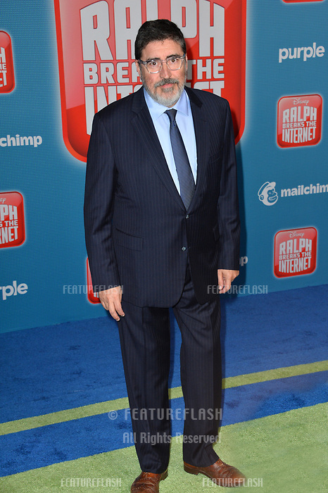 """LOS ANGELES, CA. November 05, 2018: Alfred Molina at the world premiere of """"Ralph Breaks The Internet"""" at the El Capitan Theatre.<br /> Picture: Paul Smith/Featureflash"""