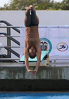 BARRANQUILLA - COLOMBIA, 20-07-2018: Sebastian Mora durante su participación en la categoría clavados hombres tarmapolín 1mt como parte de los Juegos Centroamericanos y del Caribe Barranquilla 2018. /  Sebastian Mora during his participation in the diving men's 1mt category of the Central American and Caribbean Sports Games Barranquilla 2018. Photo: VizzorImage / Alfonso Cervantes / Cont
