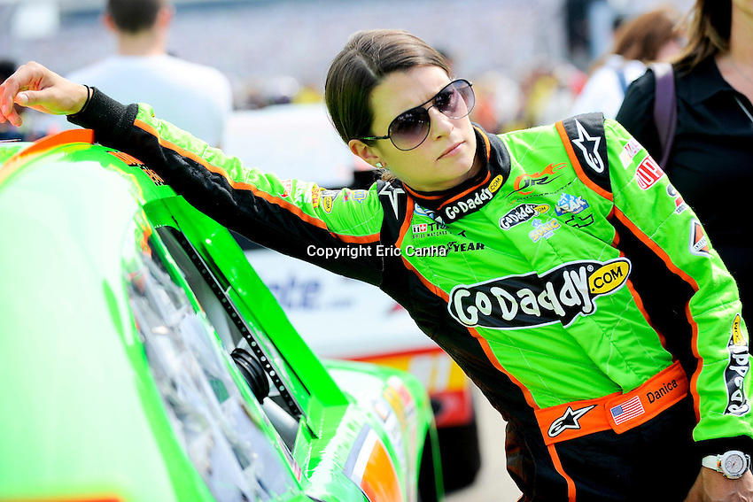 July 14 2012 Nationwide Series driver Danica Patrick (7) waits for the start of the F.W. Webb 200 at the New Hampshire Motor Speedway in Loudon New Hampshire. Eric Canha/CSM.