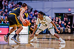 23 January 2019: University of Vermont Catamount Guard Ben Shungu, a Redshirt Sophomore from Burlington, VT, in first half action against the UMBC Retrievers at Patrick Gymnasium in Burlington, Vermont. The Catamounts fell to the Retrievers 74-61 who handed the Cats their first America East loss of the season. Mandatory Credit: Ed Wolfstein Photo *** RAW (NEF) Image File Available ***