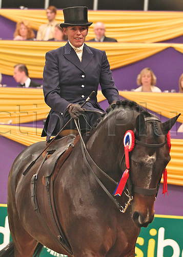 10.10.2010 The Horse of the Year Show from the NEC in Birmingham. The Supreme Horse of The year winner Katie Jarram riding Mrs J Jerram's 'Dunbeacon'