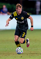 16th July 2020, Orlando, Florida, USA;  Columbus Crew defender Chris Cadden (2) looks to pass the ball during the MLS Is Back Tournament between the Columbus Crew SC versus New York Red Bulls on July 16, 2020 at the ESPN Wide World of Sports, Orlando FL.