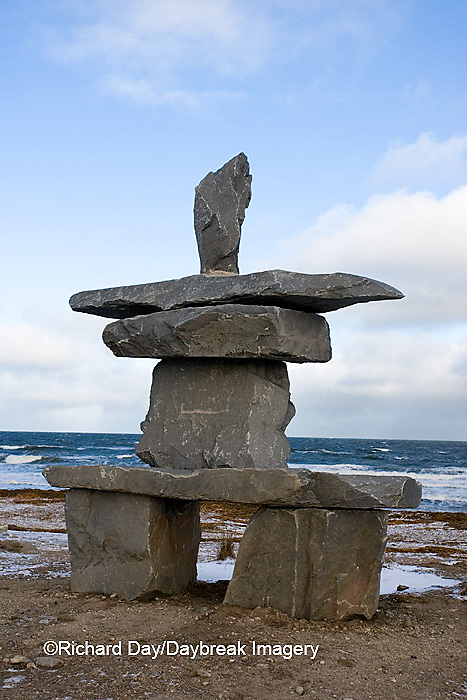 60595-010.04 Inukshuk near Hudson Bay Churchill MB Canada