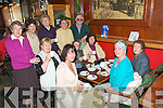 Coffee Morning: Attending the coffee morning in aid of the St. Joseph's Young Priests Society at the Mermaids Bar in Listowel on Friday morning were seatedMoire Keane, Nora Wrenn, Mary Hannon, Pauline Chute, Noreen LYnch & Celestine Browne. Standing: Eithne Doyle, Jean McCarron, Teresa HEaly, Christine O'Keeffe & Joan Walsh.