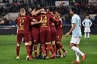 esultanza gol Patrik Schick  Roma. Goal celebration.<br /> Roma 14-01-2019 Stadio Olimpico<br /> Football Italy Cup 2018/2019, Round of 16 <br /> AS Roma - Virtus Entella<br /> Foto Image Sport  / Insidefoto