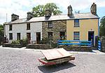 Fron Haul, Quarrymen's houses, National slate museum, Llanberis, Gwynedd, Snowdonia, north Wales, UK