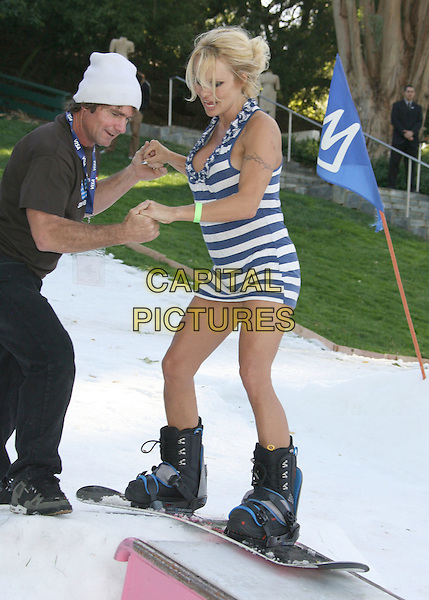 Celebrity snowboarding event with the us olympic ski team