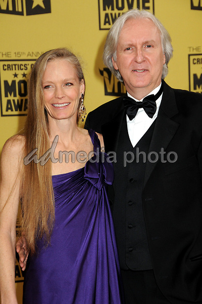 15 January 2010 - Hollywood, California - James Cameron and wife Suzy Amis. 15th Annual Critics' Choice Movie Awards - Arrivals held at the Hollywood Palladium. Photo Credit: Byron Purvis/AdMedia