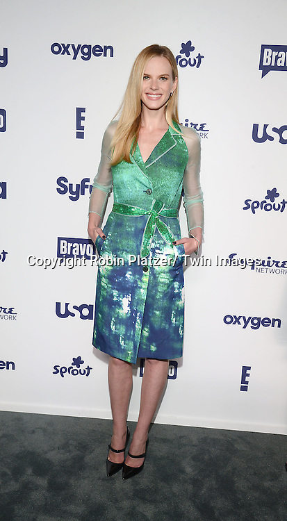 Anne V in NoNoo green dress attends the NBCUniversal Cable Entertainment Upfront <br /> on May 15, 2014 at The Javits Center North Hall in New York City, New York, USA.