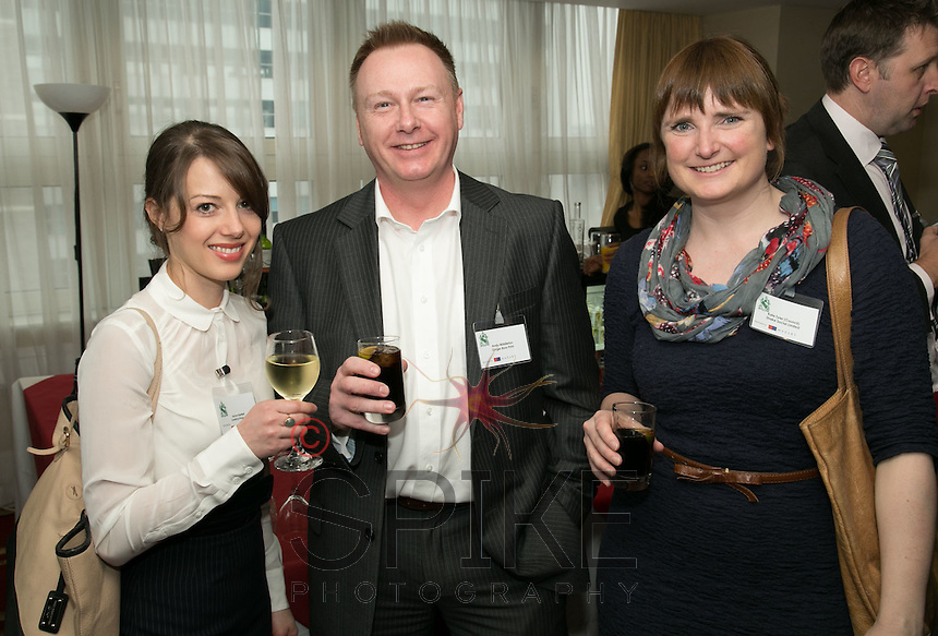 Jaclyn Bartlett of Centrick Property, Andy Middleton of Ginger Root Print and Kate Tyler from Shake Social