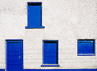 Blue door and windows, Dingle, County Kerry, Ireland