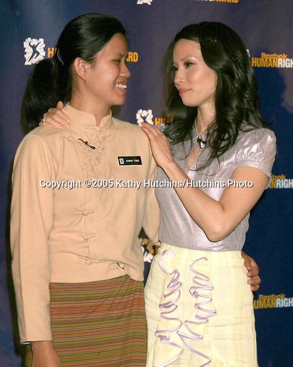 Charm Tong.Lucy Liu.2005 Reebok Human Rights Award.Royce Hall, UCLA.Westwood, CA.May 11, 2005.©2005 Kathy Hutchins / Hutchins Photo