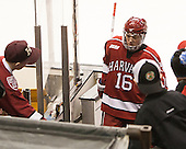 Ryan Donato (Harvard - 16) - The Boston College Eagles defeated the Harvard University Crimson 3-2 in the opening round of the Beanpot on Monday, February 1, 2016, at TD Garden in Boston, Massachusetts.