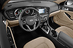 High angle dashboard view of a 2011 Kia Optima Hybrid