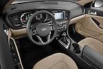 High angle dashboard view of a 2011 Kia Optima Hybrid
