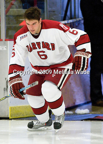 Ryan Grimshaw (Harvard - 6) - The Harvard University Crimson defeated the Dartmouth College Big Green 4-1 (EN) on Monday, January 18, 2010, at Bright Hockey Center in Cambridge, Massachusetts.