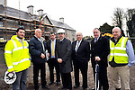Brian Hayes, TD,  Minister of State at the Department of Finance with special responsibility for Public Service Reform and the Office of Public Works pictured on a visit to Killarney House which is currently under reconstruction on Friday morning with from left, Darid Matteini, OPW, Frank Brennan, OPW, Senator Tom Sheahan, Senator Paul Coghlan, Gerry Murphy, OPW and Niall Parsons, OPW..Picture by Don MacMonagle