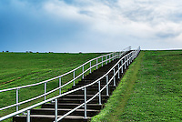 Mount Trashmore Park,  a city park based on landfill reuse, Virginia Beach, Virginia, USA