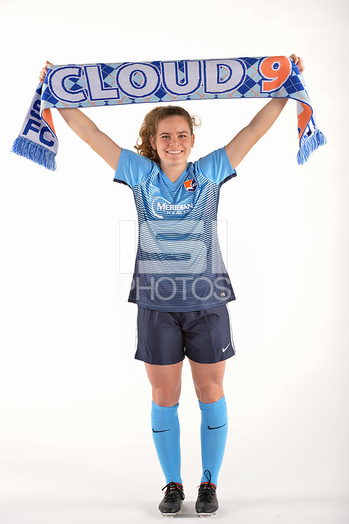 Belmar, NJ - Wednesday March 29, 2017: Daphne Corboz poses for photos at the Sky Blue FC team photo day.