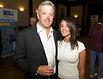 WATERBURY, CT-071917JS09--United Way board member  Peter Baker of Crystal Rock and Josette Caporale, at the United Way of Greater Waterbury gathering to honor their many community partners at the Mattatuck Museum in Waterbury. <br /> Jim Shannon Republican-American