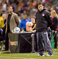 Toronto FC Head Coach Preki stands unasumming on the sidelines. The LA Galaxy and Toronto FC played to a 0-0 draw at Home Depot Center stadium in Carson, California on Saturday May 15, 2010.  .