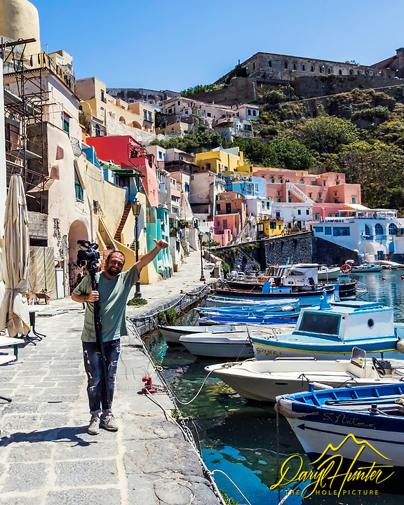 Photographer in Procida Italy