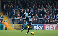 Anthony Stewart of Wycombe Wanderers in action during the Sky Bet League 2 match between Wycombe Wanderers and Bristol Rovers at Adams Park, High Wycombe, England on 27 February 2016. Photo by Andrew Rowland.