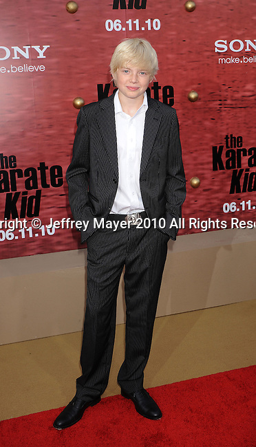 "WESTWOOD, CA. - June 07: Luke Carberry arrives at ""The Karate Kid"" Los Angeles Premiere at Mann Village Theatre on June 7, 2010 in Westwood, California."