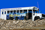 BUS PARKED WAITING for WHALE WATCHERS to RETURN from VIEWING <br />