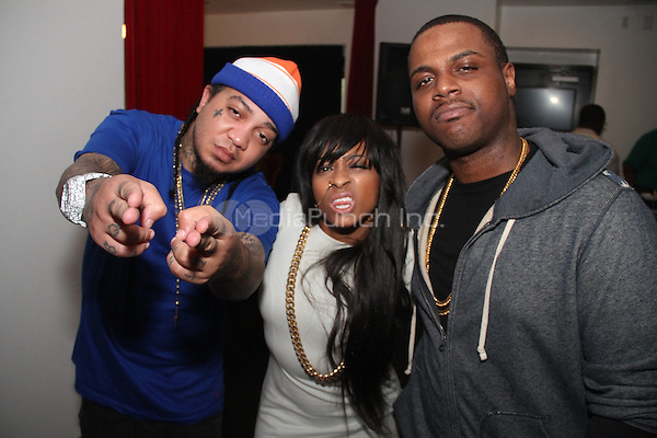 BEVERLY HILLS, CA - JUNE 28, 2014<br /> Gudda Gudda, Shanell &amp; Jae Millz attend the Young Money Official BET Awards Pre Party at Philippe Chow June 28, 2014 in Beverly hills, CA<br /> &copy; Walik Goshorn / MediaPunch