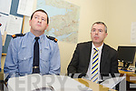 GARDAI: Speaking to the media at the Garda Press Conference in Killorglin Garda Station on Monday, l-r: Inspector Donal Ashe and Detective Sergeant Dan Keane.