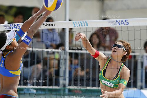 Satoko Urata, MAY 6, 2012 - Beach Volleyball : JBV Tour 2012 Sports Club NAS Open  Women's final at Odaiba Beach, Tokyo, Japan. (Photo by Yusuke Nakanishi/AFLO SPORT) [1090]