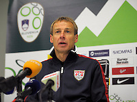 Jurgen Klinsmann, coach of team USA,  after the friendly match Slovenia against USA at the Stozice Stadium in Ljubljana, Slovenia on November 15th, 2011.