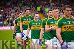 Paul Murphy Kerry players in the pre match parade before the Munster Final at Fitzgerald Stadium, Killarney on Saturday evening.