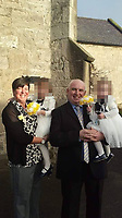 "Pictured: Tracy Kearns with Anthony Bird<br /> Re: A man strangled his partner and wrapped her body in plastic, after discovering she was having an affair, Mold Crown Court has heard.<br /> 48 year old Anthony Bird, then covered the body of 43 year old Tracy Kearns in debris in a trailer.<br /> Mr Bird denies the murder at their home in Kinmel Bay, in May this year, but accepts responsibility for her death.<br /> He ""attacked and strangled"" his partner, prosecutor Ian Unsworth said opening the case.<br /> Mr Unsworth said the defendant misled police and even helped officers in the search for the mother-of-two, telling ""lie after lie"".<br /> The couple had been in a relationship for seven years and had two daughters together.<br /> They both worked at the Sandy Cove Club in Kinmel Bay but Mr Unsworth said things deteriorated and she started a relationship with another man, Andrew Jones."
