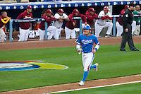 21 March 2009: #50 Hyun Soo Kim of Korea runs the bases on an homerun by #52 Tae Kyun Kim during the 2009 World Baseball Classic semifinal game at Dodger Stadium in Los Angeles, California, USA. Korea wins 10-2 over Venezuela.