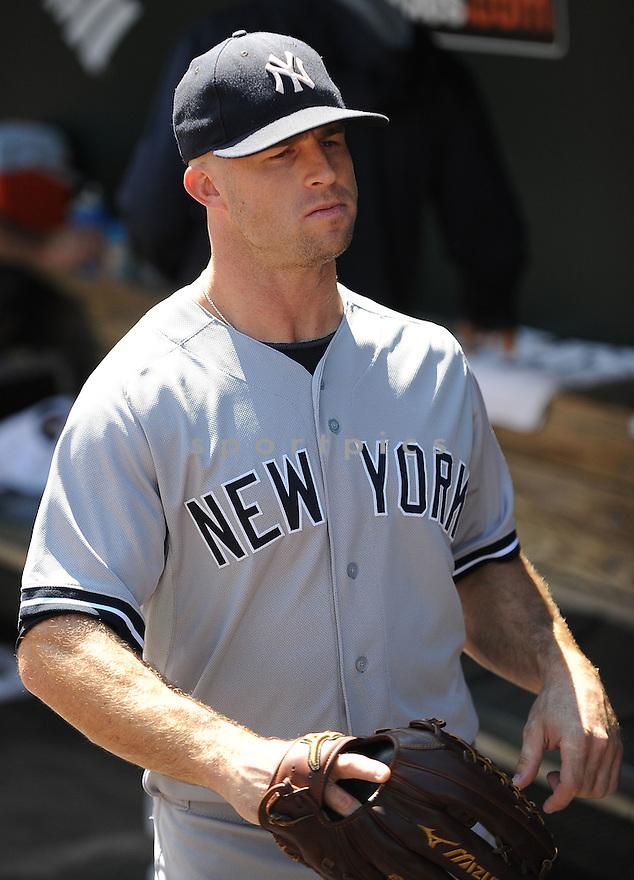 New York Yankees Brett Gardner (11) during a game against the Baltimore Orioles on September 12, 2014 at Orioles Park in Baltimore, MD. The Orioles beat the Yankees 2-1.