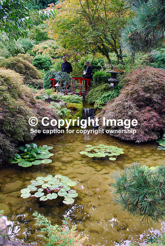 Butchart Gardens, National Historic Site of Canada,  Brentwood Bay, Vancouver Island, Canada, 200809091196, flowers, shrubs, trees, water feature, Japanese Garden..Copyright Image from Victor Patterson, 54 Dorchester Park, Belfast, N Ireland, BT9 6RJ...Tel: +44 28 9066 1296.Mob: +44 7802 353836.Email: victorpatterson@mac.com..IMPORTANT: For copyright information go to www.victorpatterson.com and click on Terms and Conditions