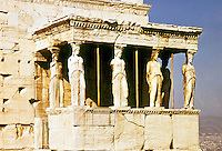 Greece: The Caryatides (Porch of the Maidens).