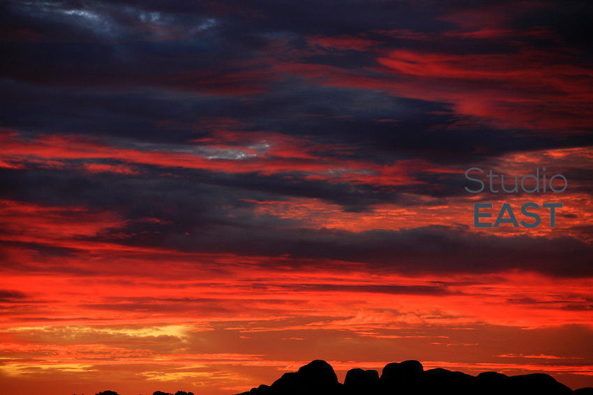 The Kata Tjuta mountains, or Olgas, are seen at sunset, Northern Territory, Australia, on December 31, 2008. Photo by Lucas Schifres/Pictobank