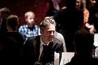 """Kirkenes, Norge, 09.02.2012. Traavik på Thon Hotellet i Kirkenes. Den 1. februar 2012 lastet kunstner Morten Traavik opp en videosnutt på You Tube av Nord-Koreanske ungdommer som spiller A-Ha hiten """"Take on Me"""" på trekkspill. En uke etter ha over en million mennesker sett videoen. En delegasjon Nord-Koreanere er i Kirkenes i forbindelse med festivalen """"Barents Spetakel"""". Foto: Christopher Olssøn"""
