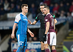 St Johnstone v Hearts&hellip;23.12.17&hellip;  McDiarmid Park&hellip;  SPFL<br />Referee Kevin Clancy has words with Liam Craig and David Milinkovic<br />Picture by Graeme Hart. <br />Copyright Perthshire Picture Agency<br />Tel: 01738 623350  Mobile: 07990 594431