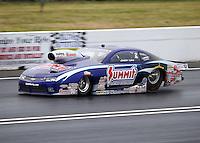 Jun 5, 2015; Englishtown, NJ, USA; NHRA pro stock driver Jason Line during qualifying for the Summernationals at Old Bridge Township Raceway Park. Mandatory Credit: Mark J. Rebilas-