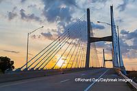 65095-02903 Bill Emerson Memorial Bridge at sunrise over Mississippi River Cape Girardeau  MO