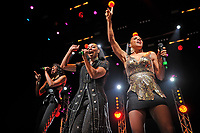 LONDON, ENGLAND - APRIL 10: Rhona Bennett, Terry Ellis and Cindy Herron of 'En Vogue' performing at indigo, O2 Arena on April 10, 2018 in London, England.<br /> CAP/MAR<br /> &copy;MAR/Capital Pictures
