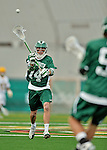 24 April 2012: Dartmouth College Big Green midfielder Robbie Hoffman, a Junior from Pennington, NJ, in action against the University of Vermont Catamounts at Virtue Field in Burlington, Vermont. The Big Green defeated the Catamounts 10-5 in Men's Varsity Lacrosse action. Mandatory Credit: Ed Wolfstein Photo